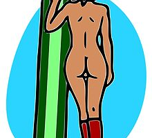 Naked Snowboarder by Nude-is-Life