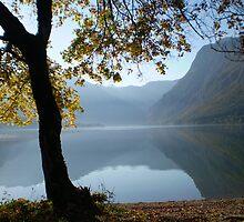 Autumn at Lake Bohinj Slovenia by SammyH
