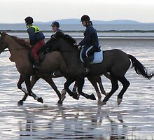 Beach riding by Debbie Vine