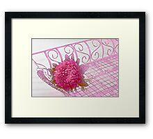 Aster In Tray - Digital Artwork Framed Print