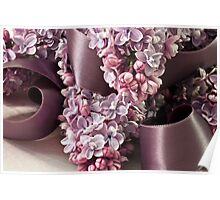 Lilac And Ribbon Curls Poster