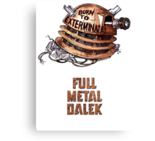 Full Metal Dalek | Doctor Who | w/ Title Canvas Print