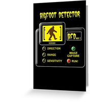 Bigfoot Detector Greeting Card