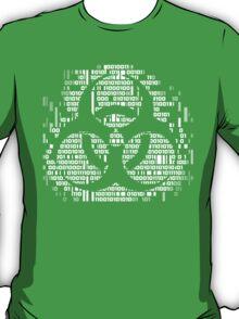 Binary Biohazard Symbol (White) T-Shirt