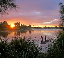 Sunrise Lake Eden by stevealder