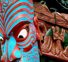 This would scare any enemy !...........Bow of Maori Waka. Sticker