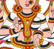 goddess Lakshmi kalamkari black Sticker