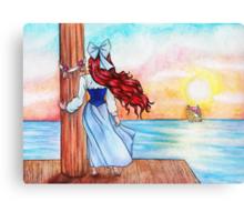 Watching Love Sail Away Canvas Print