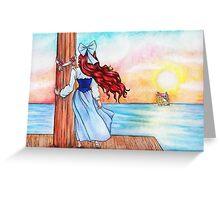 Watching Love Sail Away Greeting Card