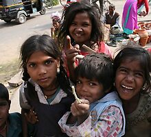 Street children, Jaipur. India by Thomas Entwistle