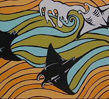 Manta Rays   by Samantha Churchill
