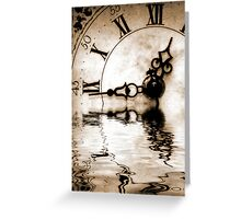 Flowing Time Greeting Card