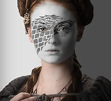 Sansa Stark Direwolf House War Paint by HilaryHeffron