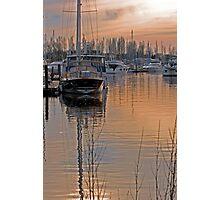 Sunset on Chichester marina Photographic Print