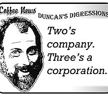 Two's Company, Three's A Corporation by vancoffeenews