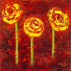 """Three Yellow Roses"" Oil on Canvas by MiSook Kim by misook"