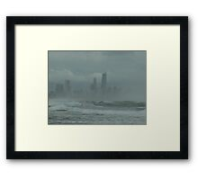 Sunshine,Beach, swimming,  suntan ,?? surfers paradise come for the holidays? No, come back next week ! Framed Print