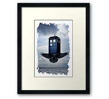 Police Call Box Flying with the Bird iPhone 6 Case Framed Print