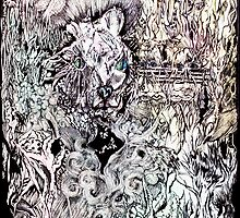 Hysteria, watercolor and ink by Danielle J. Scott (Smith)
