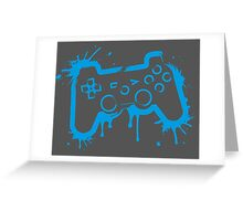 Playstation Controller (Splatter) Greeting Card