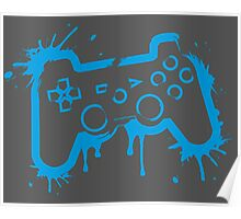 Playstation Controller (Splatter) Poster