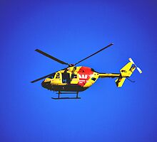 SURF RESCUE HELICOPTER by Cheryl Hall