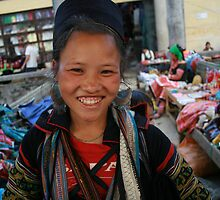 Young Black Hmong girl, Sapa, Vietnam by Thomas Entwistle