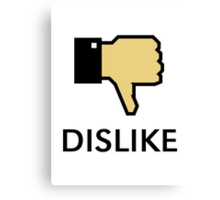 Dislike (Thumb Down) Canvas Print