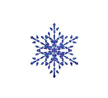 Frozen Snowflake Photographic Print