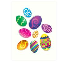 Many Easter eggs  Art Print