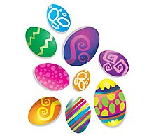 Many Easter eggs  Photographic Print