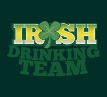 IRISH drinking Team with beer pint and Shamrock by jazzydevil