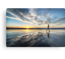 Sunset Run Metal Print