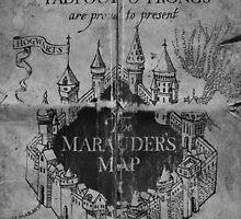 Marauder's Map - Black and White by Frazer Varney