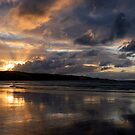Ahipara at Sunset, Ninety Mile beach, New Zealand by Victoria Ashman