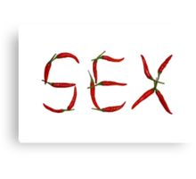 Sex In Chillies Canvas Print