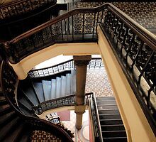 Stairs at QVB by rebecca zachariah