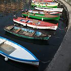 colored boats (lake garda/italy) by srphotos