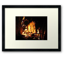 Immortals Fireplace Framed Print