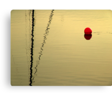 red buoy in sunset Canvas Print
