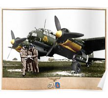 Junkers Ju 88 with Crew Poster