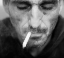 Smoking stranger by Victor Bezrukov