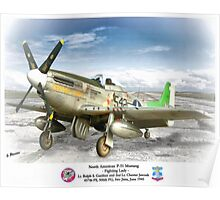 "North American P-51 ""Fighting Lady"" Poster"