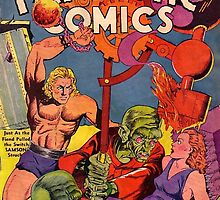 Fantastic Comics, He-man, Alien and a Damsel in Distress by Vintagee