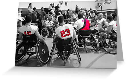 Wheelchair Basketball Team by Wendy Mogul