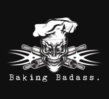 Baker Skull and Crossed Rolling Pins: Baking Badass 1 by sdesiata