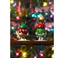 Mr. Red & Mrs. Green M&M  Photographic Print