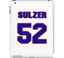 National Hockey player Alexander Sulzer jersey 52 iPad Case/Skin