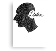 Listen/Music Lover Metal Print