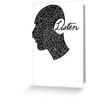 Listen/Music Lover Greeting Card